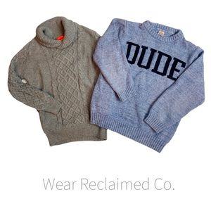 BOY'S 2 Pc Sweater Bundle - Size 7/8 Medium